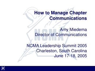 How to Manage Chapter Communications