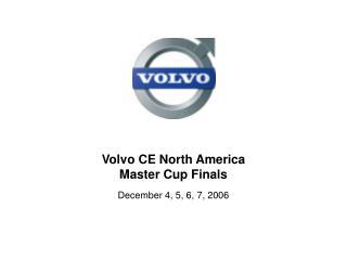 Volvo CE North America  Master Cup Finals