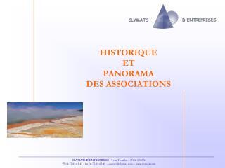 HISTORIQUE  ET  PANORAMA  DES ASSOCIATIONS