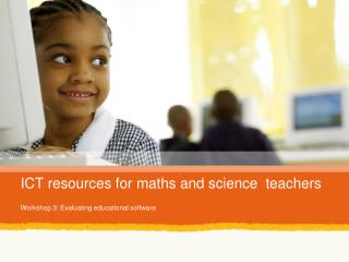 ICT resources for maths and science  teachers