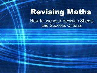 Revising Maths