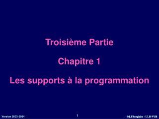 Troisi me Partie  Chapitre 1  Les supports   la programmation