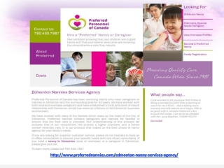Edmonton nannies services