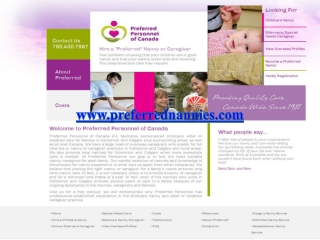 Canadian Nanny Services in Edmonton and Calgary