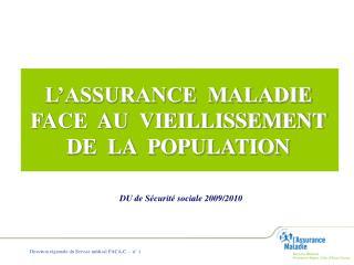 L ASSURANCE  MALADIE  FACE  AU  VIEILLISSEMENT  DE  LA  POPULATION