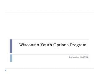 Wisconsin Youth Options Program