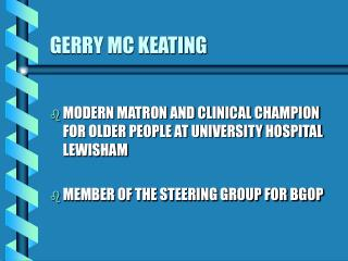 GERRY MC KEATING