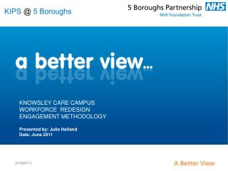KNOWSLEY CARE CAMPUS WORKFORCE  REDESIGN ENGAGEMENT METHODOLOGY   Presented by: Julie Holland Date: June 2011