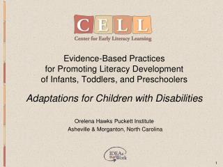 evidence-based practices for promoting literacy development of infants, toddlers, and preschoolers