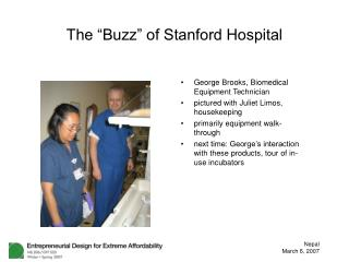 The  Buzz  of Stanford Hospital