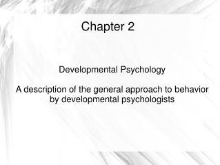 Concept of Behavior