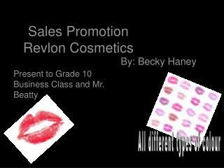 Sales Promotion Revlon Cosmetics