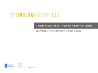 College of San Mateo   Facilities Master Plan Update