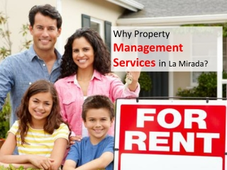 Property Rental Services in La Mirada