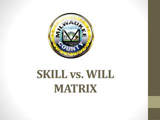 SKILL vs. WILL  MATRIX