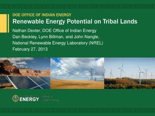 Renewable Energy Potential on Tribal Lands
