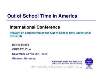 Out of School Time in America