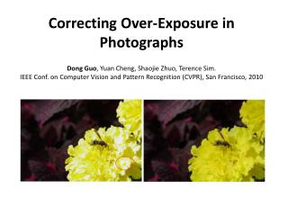 Correcting Over-Exposure in Photographs
