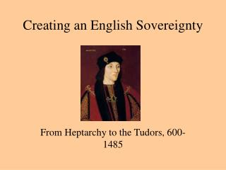 Creating an English Sovereignty