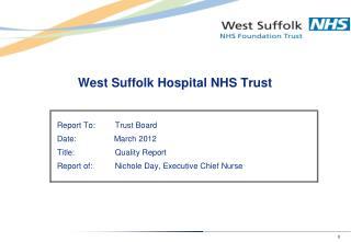 West Suffolk Hospital NHS Trust