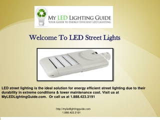 Street LED lighting
