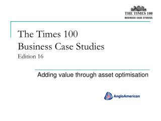 The Times 100  Business Case Studies Edition 16