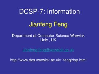 DCSP-7: Information