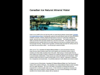 Canadian Ice Natural Mineral Water