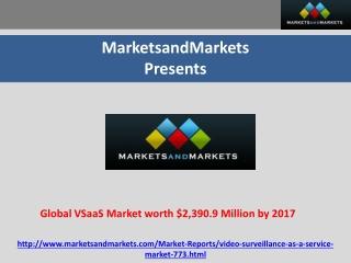 Global Video Surveillance As A Service Market worth $2,390.9