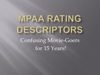 MPAA Rating Descriptors