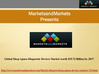 Sleep Apnea Diagnostic Devices Market by 2017