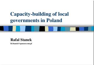 Capacity-building of local governments in Poland