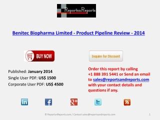 Benitec Biopharma Limited - Market Overview 2014