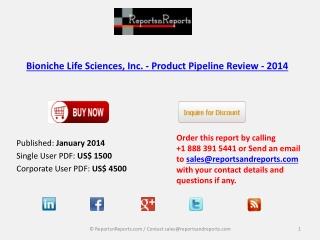 Bioniche Life Sciences, Inc. - Market Overview 2014