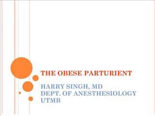 the obese parturient