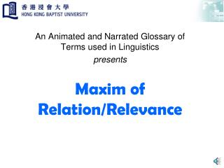 Maxim of Relation