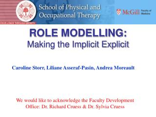 ROLE MODELLING: Making the Implicit Explicit