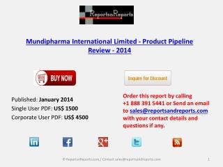 Mundipharma International Limited - Market Overview 2014