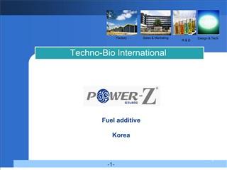 fuel additive  korea