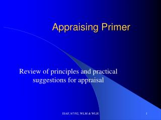 Appraising Primer