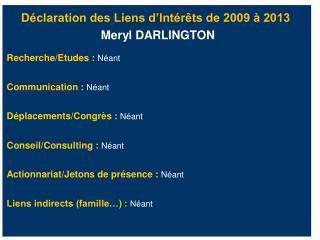 D claration des Liens d Int r ts de 2009   2013