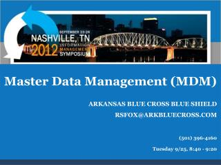 Master Data Management MDM