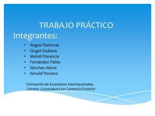 TRABAJO PR CTICO Integrantes: