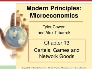 Chapter 13 Cartels, Games and Network Goods