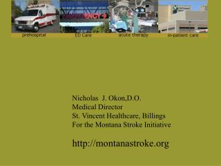 Nicholas  J. Okon,D.O. Medical Director St. Vincent Healthcare, Billings For the Montana Stroke Initiative