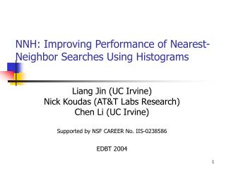 NNH: Improving Performance of Nearest-Neighbor Searches Using Histograms