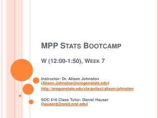 MPP Stats Bootcamp  W 12:00-1:50, Week 7