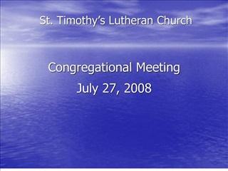 st. timothy s lutheran church