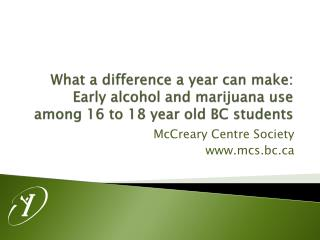 What a difference a year can make: Early alcohol and marijuana use among 16 to 18 year old BC students