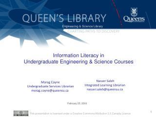 Information Literacy in  Undergraduate Engineering  Science Courses
